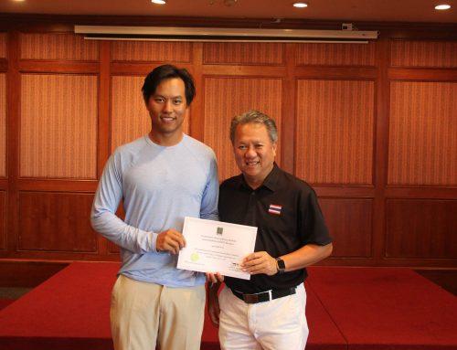 ขอแสดงความยินดีกับโปรคมษิต หัวใจ สกอร์ 2 อันเดอร์พาร์ ได้เป็นตัวแทนสนามกอล์ฟแหลมฉบังฯ เข้าร่วมการแข่งขันรายการ Betagro All Thailand Golf Championship 2017 ในวันที่ 29 มิ.ย.-2 ก.ค. 2560